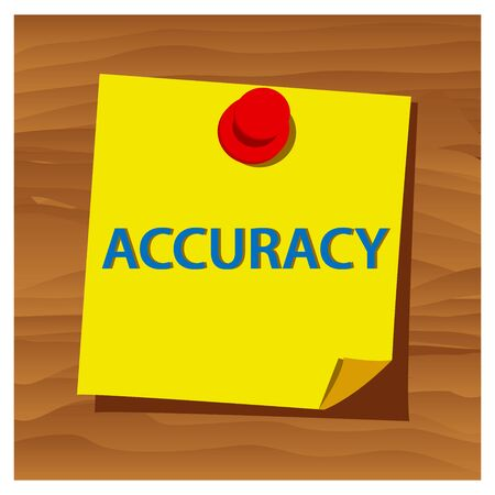Reminder paper word accuracy vector. Vector Illustration.
