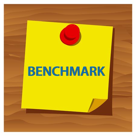 Reminder paper word benchmark vector. Vector Illustration.