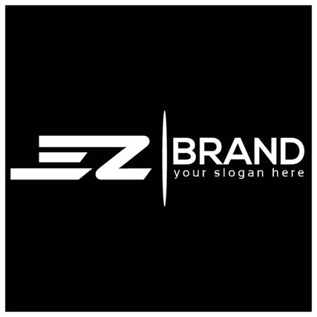 Letter E and Z on White background. logo has the impression fast and reliable. Logo Design Template.