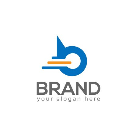 Letter B on White background. logo has the impression fast and reliable. Logo Design Template.