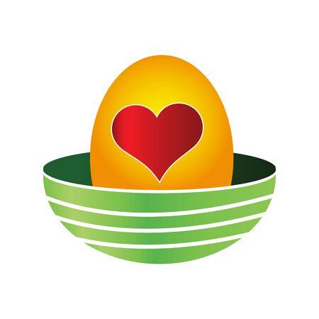 Eggs and love. Eggs in the nest. Eggs icon,  vector illustration Ilustração