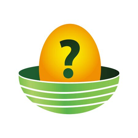 Eggs and question mark. Eggs icon,  vector illustration