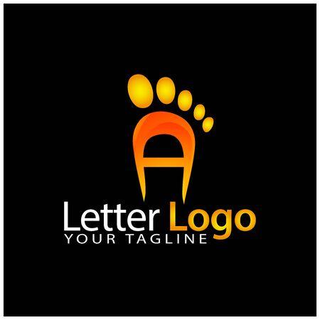 A foot logo template, stock logo template 版權商用圖片 - 137253363