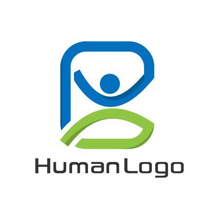 Successful people logo template, colorful people Archivio Fotografico - 136972734