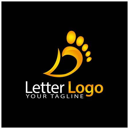 D foot logo template, stock logo template 版權商用圖片 - 136972740