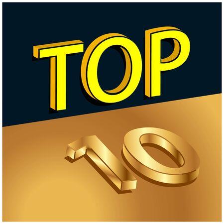 Top ten stock background