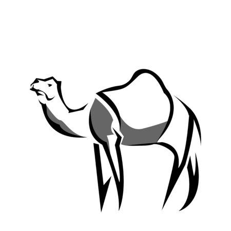 Camel icon stock, flat design. Camel logo