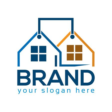 Selling House logos, flat design. Vector Illustration on white background