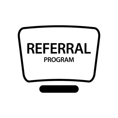 Referral Program Button. Flat design. Vector illustration. illustration in vector format. Иллюстрация