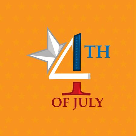 Happy 4th of July Background. American Independence Day. designs for posters, backgrounds, cards, banners, stickers, etc