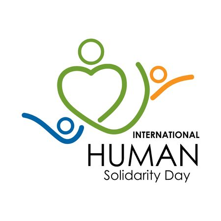 International Human Solidarity Day vector. Flat design. Vector Illustration on white background. Иллюстрация