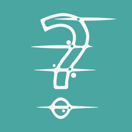 Abstract Question Mark Icon. Flat design. Vector Illustration on white background Иллюстрация