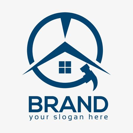 House Repair Logo, Flat design. Vector Illustration on white background
