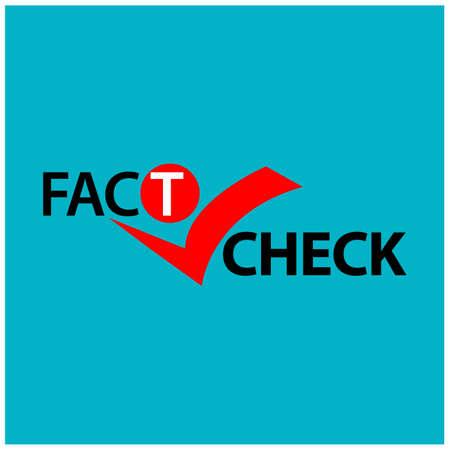 Fact check mark illustration
