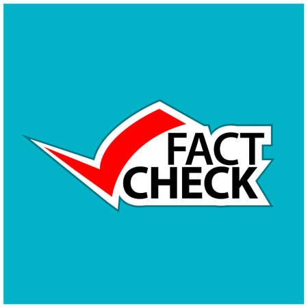 Fact check, Check Mark Illustrations. illustration in vector format - stock illustration.