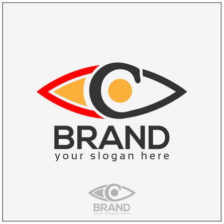 Eye logo on white with initial c
