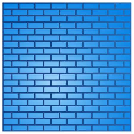Blue brick wall background. Vector illustration. 矢量图像