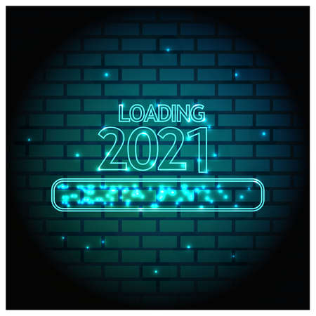 2021 Happy New Year Background for your Seasonal Flyers, banner, sticker, and Greetings Card. 2020 to 2021