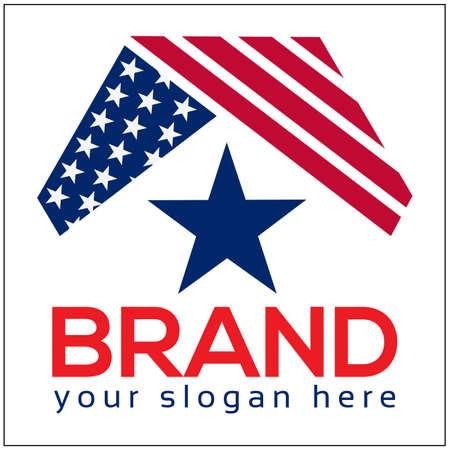 American home logo. Logo vector illustration. Abstract house logo