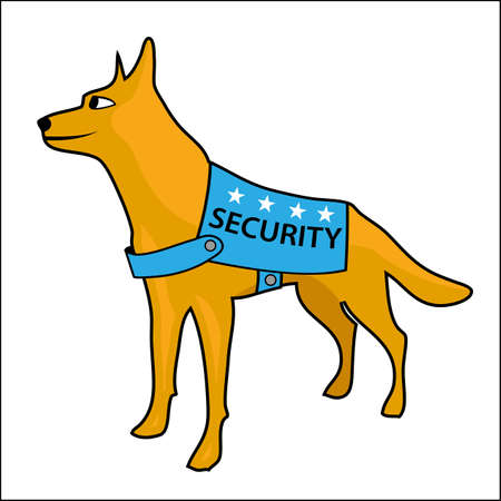 Security dog vector, Vector Illustration on white background.