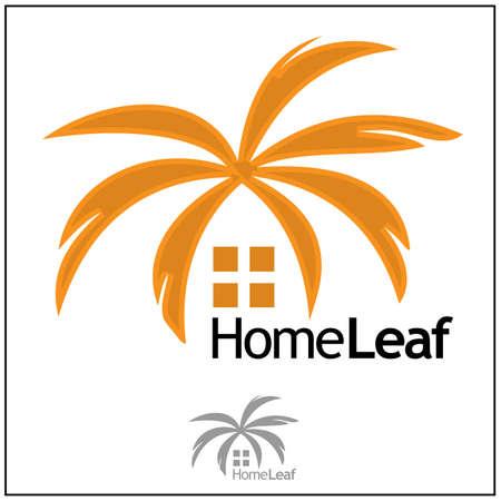 Home Leaf sign 矢量图像