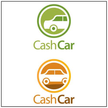 Cash Car Icon. Vector illustration on white background. Stock icon 矢量图像