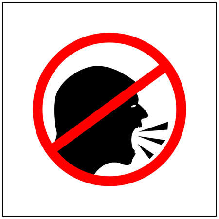 No shouting symbol, Vector Illustration on white background.