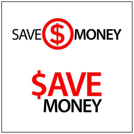 Save the money Icon. Concept for protect our finances. Vector Illustration on white background