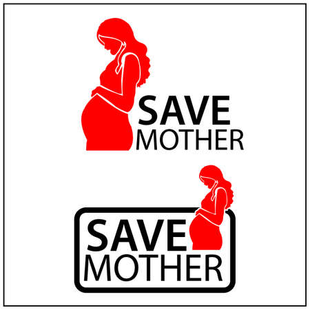 Save the mother Icon. Concept for protect the mother. Vector Illustration on white background