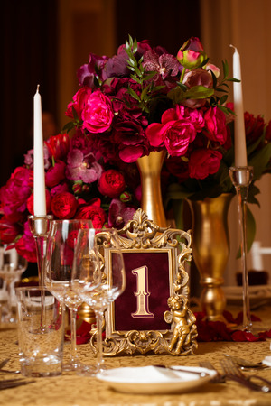 Beautiful decoration on wedding day photo