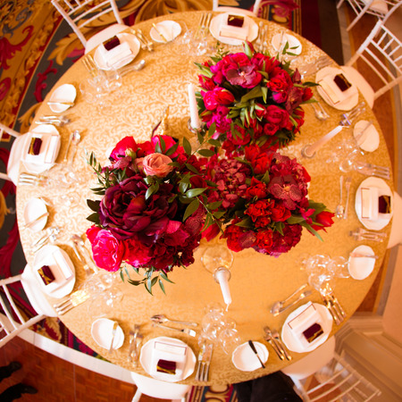 Beautiful decoration on wedding day photo