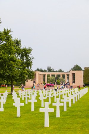 hoc: American Military Cemetery, Omaha Beach, Colleville-sur-Mer, Normandy, France