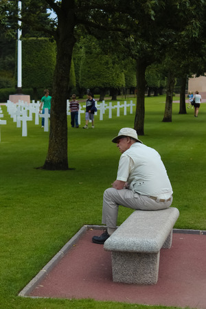 omaha: American Military Cemetery, Omaha Beach, Colleville-sur-Mer, Normandy, France