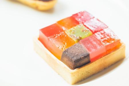colores calidos: Postre gelatina de colorido. Los colores c�lidos. Dof bajo.