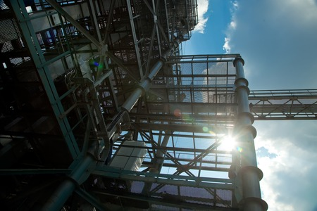 Industrial zone. Conceptual background. Plant or factory photo