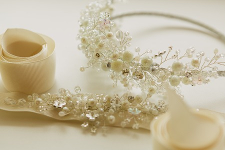 wedding accessories: The composition of beautiful wedding accessories bride