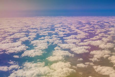 window view: Beautiful cloud sky view from aeroplane window