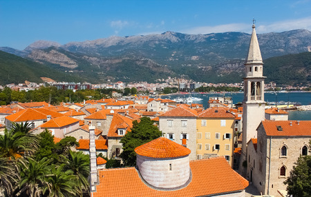 Montenegro, Budva - JUNE 06, 2014: view on old town