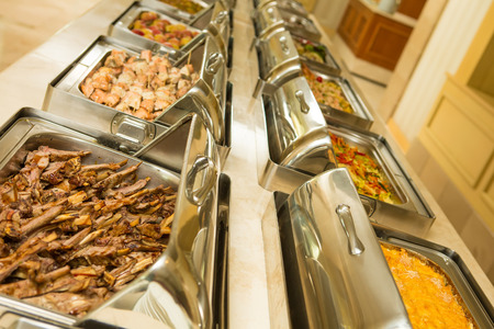 buffet: The food buffet in restaurant. Close up