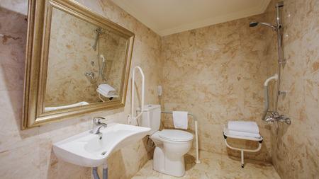 luxury bathroom: Fragment of a luxury bathroom. Modern interior