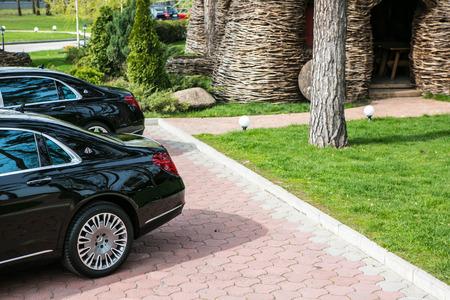 test drive: Ukraine, Kiev - April 23, 2015: Mercedes-Maybach S 600 2015 Test Drive