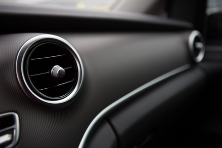 Closeup photo of car interiors. Shallow DOF Stock Photo