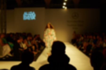 fashion runway: Fashion runway out of focus. The blur background Stock Photo
