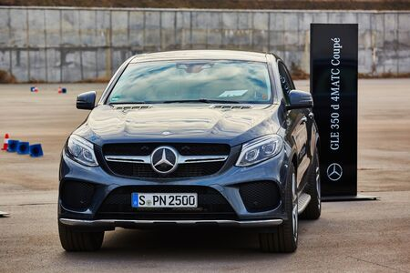 mercedes: Kiev, Ukraine - OCTOBER 10, 2015: Mercedes Benz star experience. The interesting series of test drives Editorial