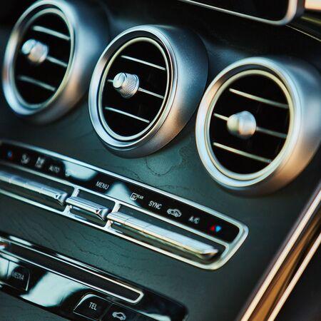 car inside: Luxury car interior details. The Shallow dof