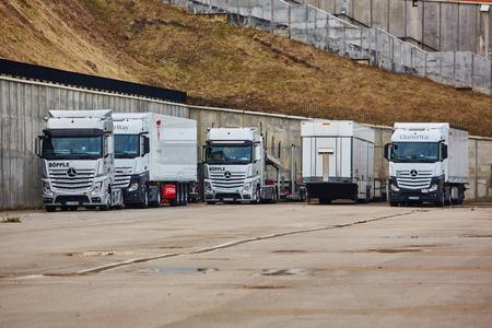 daimler: Kiev, Ukraine - OCTOBER 10, 2015: Mercedes Benz star experience. The interesting series of test drives Editorial