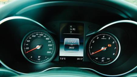Modern car interior. Close up modern car dashboard Stock Photo