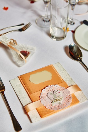 dining set: Table set for wedding or another catered event dinner.