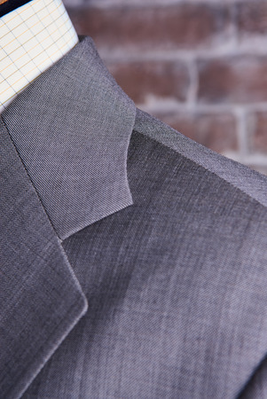 lazo negro: business suit closeup. Suit Texture Close Up