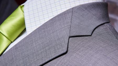 tie necktie: business suit closeup. Suit Texture Close Up